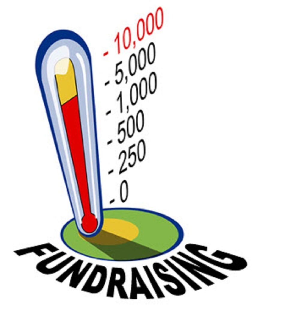 fundraising tracker drawn like a thermometer