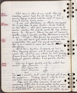 Page of one of Octavia E. Butler's commonplace books, ca. July 6, 1977–May 5, 1978. Octavia E. Butler papers. The Huntington Library, Art Collections, and Botanical Gardens.