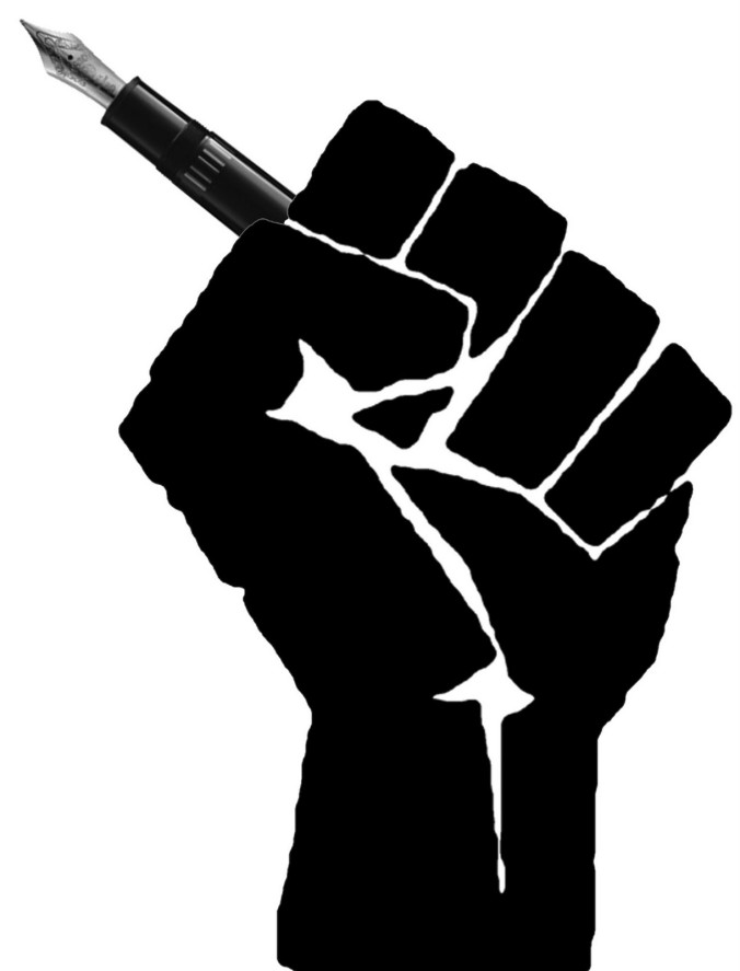 image of a fist holding a pen