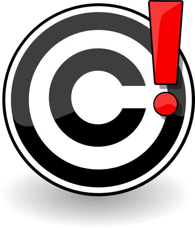 image of a c in a circle (copyright symbol )with an exclamation point