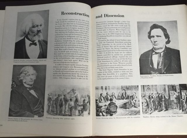 A photo of pages from the book A Pictorial History of the Negro in America