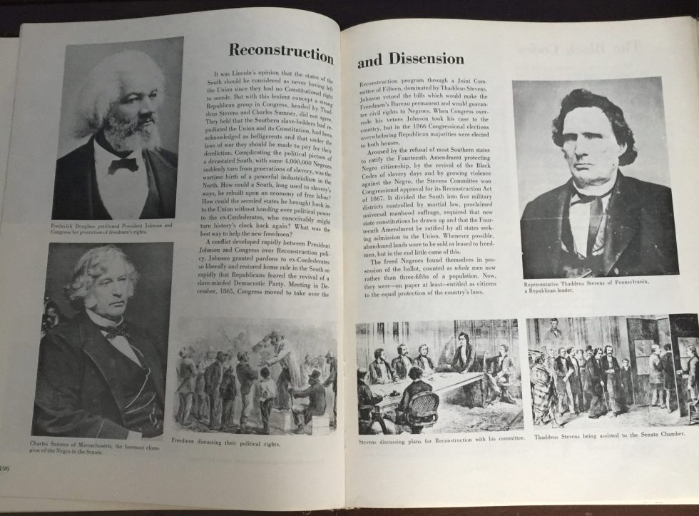 """A photo of the pages of """"A Pictorial History of the Negro in America"""""""