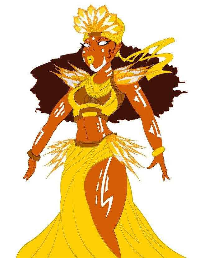 image of an illustration of Oshun, Yoruba Godess