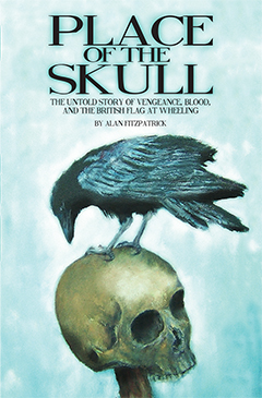 """image of a skull with a crow on top for book cover """"Place of the Skull"""""""