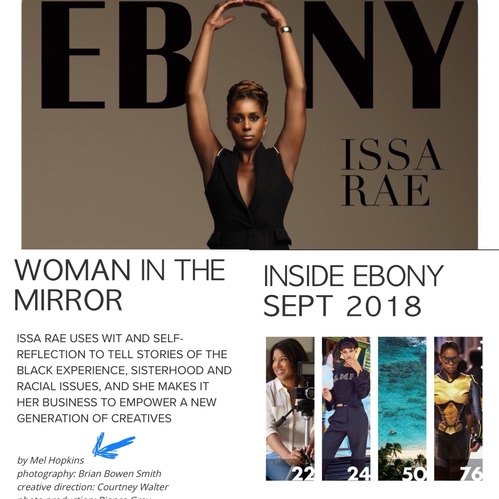 photo compilation Ebony Magazine featuring byline