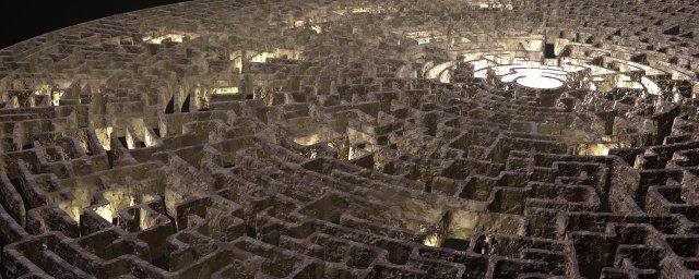 image of a stone maze